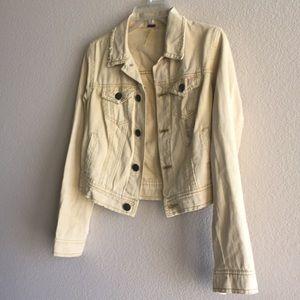 Light yellow/ mustard jean jacket 🧥